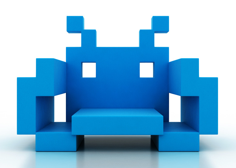 chopa:  Space Invader chair | by Dorothy