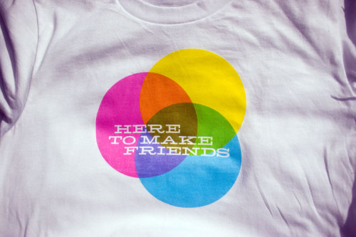Here to Make Friends screenprinted tee by Wire & Twine