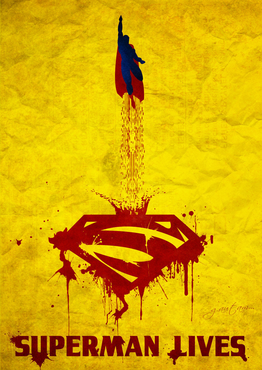 timetravelandrocketpoweredapes:  Superman Poster // By: Gautam Singh