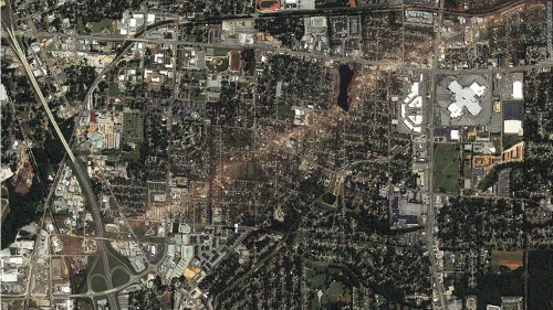 wojiaoalana:  The path of the tornado that went through Tuscaloosa D: