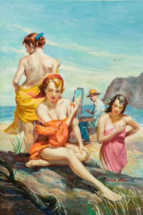 "trixietreats:  Victor Olson ""The Harem"""