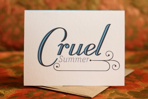 Cruel Summer Inside:  Blank Purchase This Card