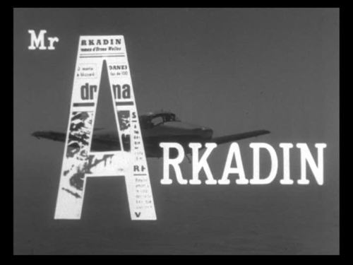 titlecard:  Mr. Arkadin by Orson Welles - 1955
