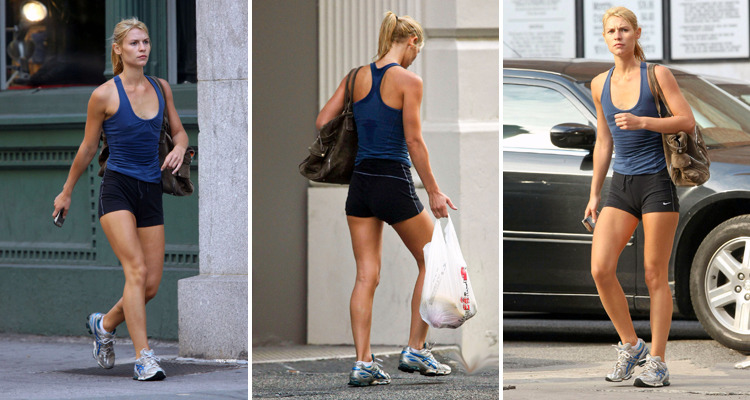 Claire Danes' post-workout bod.