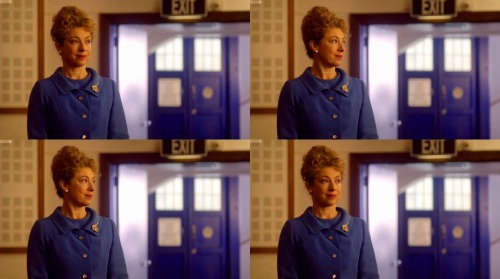 alexkingstonsrampantrabbit:  TARDIS blue  I feel like the majority of her outfits and her favorite color would be that blue.  Also, I feel like Moffat just goes HMMM WHERE IS A GOOD PLACE TO PARK THE TARDIS IN THIS SCENE?! BECAUSE IT MUST BE EVERYWHERE!! Also also, could she look more Ms. Frizzle right there?