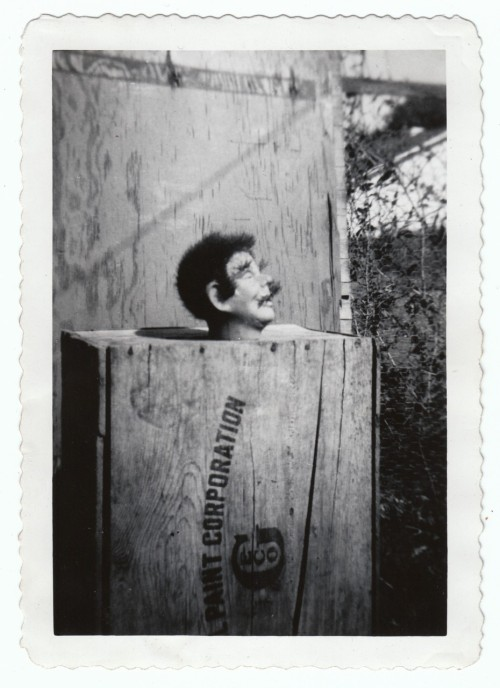 "Ventriloquist Dummy Figure Early Original Photograph collection Jim Linderman (credit) Circa 1940 Vernacular Photograph  From the Series ""AT THE CIRCUS IN BLACK AND WHITE"""