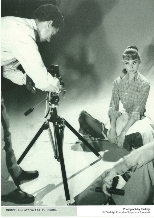 theniftyfifties:  Audrey Hepburn in front of the camera.   My two favourite things; Audrey and photography.