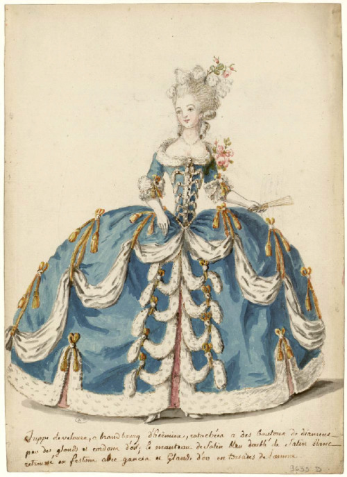 oldrags:  Court dress, 1785, Les Arts Decoratifs