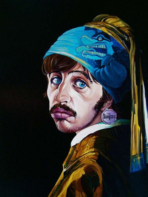 Ringo with the Beatle Earring by  David MacDowell