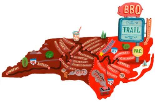 in-north-carolina:  North Carolina BBQ Road Trip Route  shelby got the best sauce and the best slaw