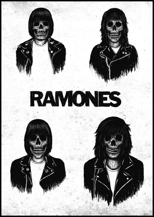 eatsleepdraw:  ramones  Reblogged with TumTum ♻