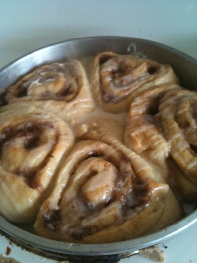 VEGAN CINNAMON BUNS These taste better than butter ones, I swear by it.  Recipe soon, I'm just teasing all of you right now.