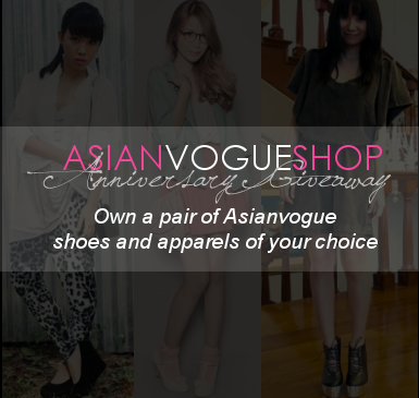 "asianvogueshop:  Who can join:  Open to all Philippine residents only.How to join: 1. Follow Asianvogueshop 2. Reblog this post (A sweet note is appreciated <3)What to win: 1st Prize  -1 pair of shoes and 1 apparel of your choice2nd Prize -1 pair of shoes of your choice  3rd Prize-1 apparel of your choice  Deadline will be on May 20, 2011 and winners will be announced on May 21, 2011. Note: It's alright to reblog everyday but not too much please. Let's be fair. Thank you :) ""Do you want real love?"" Belle York supports ASIANVOGUE!"