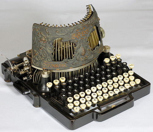 tephdee:  Bar-Lock 4 typewriter - 1892 (by antique typewriters)