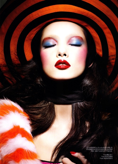 """COLOUR KALEIDOSCOPE"" : FEI FEI SUN : VOGUE CHINA MARCH 2011 : RAYMOND MEIER"