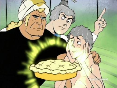 """Do not eat that. That is a poisonous magic pie."" -Hank Venture"