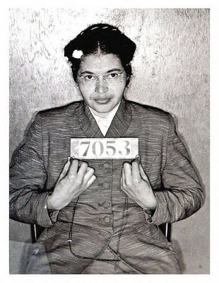 Rosa Parks   Date:  December 1, 1955  Location:  Montgomery, Alabama Crime:  Refusal to give up seat on bus to a white passenger   Rosa Parks is one of the most well known names having to do with the Civil Rights Movement.  After a long day working as a seamstress, Parks was riding the bus home when the bus driver ordered her to make room for a white passenger.  Parks refused to obey to bus driver and her individual act of civil disobedience created an impact by sparking the Montgomery Bus Boycott.   Rosa Parks