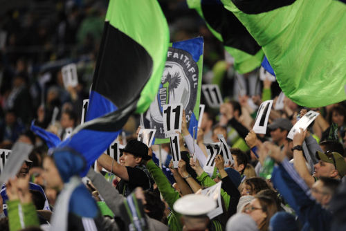 Brougham End. Sounder Faithful. #forZakuani Photo Credit : Chris Coulter | SoundersPhotos.com