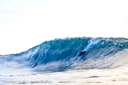 jordangodleyphotography:  Korrey pushing into a solid lump of ocean