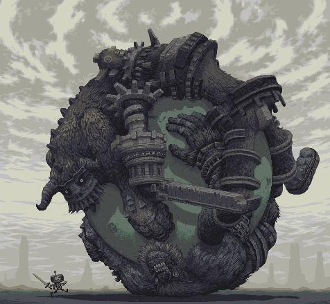 thegodsofpixels:  Colossal Damacy by Simon Anderson