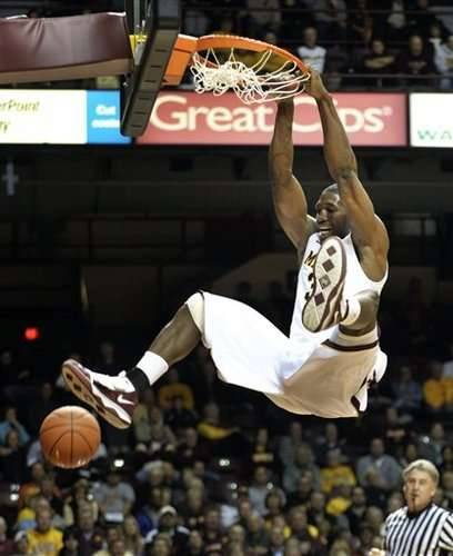 Trevor Mbakwe, AP Photo, Dunks in an exhibition