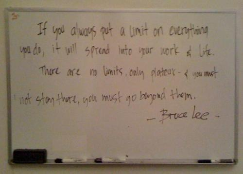 A little inspiration from the wipe board at the studio. HAPPY SUNDAY!