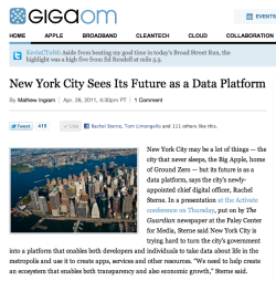 rachelsterne:  GigaOm on NYC as a Platform  So does this make it an open source city?