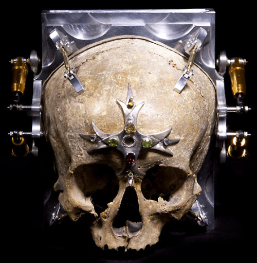 "The ""Third Eye"" camera, made from the 150-year-old skull of a 13-year-old girl."