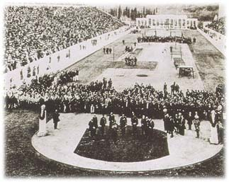 poundoflogic:  Opening ceremonies of the first modern Olympics, held in Athens, 1896