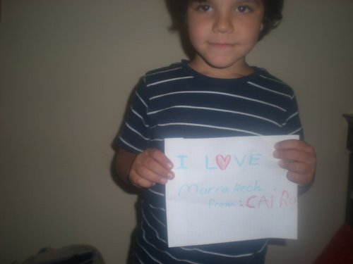 "From Hedi - Cairo, Egypt (May 1st, 2011) ""I Love Marrakech, From Cairo"""