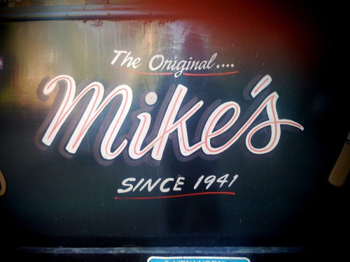 Found on Noble St. Brooklyn. NY. Mike's mobile knife sharpening service. A New York City tradition.