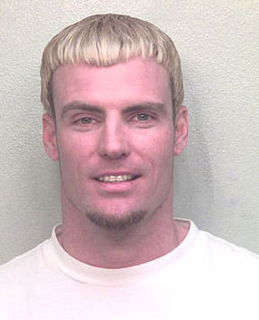 Vanilla Ice aka Robert Van Winkle   Date:  January 2001 Location:  Davie, Florida Crime:  Assault  Van Winkle and his wife, Laura, were having an argument as they drove down Interstate 595.  At one point his wife tried to jump out of the passenger window, and Van Winkle grabbed her by her hair and pulled her back in, tearing chunks of hair from her head.  He pleaded guilty to charges of disorderly conduct four months later, and sentenced to probation and ordered to attend family therapy sessions.   Vanilla Ice