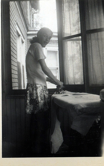 Sister pressing clothes, 1948. [From The Beach House Album 1946-49] ©WaheedPhotoArchive, 2011