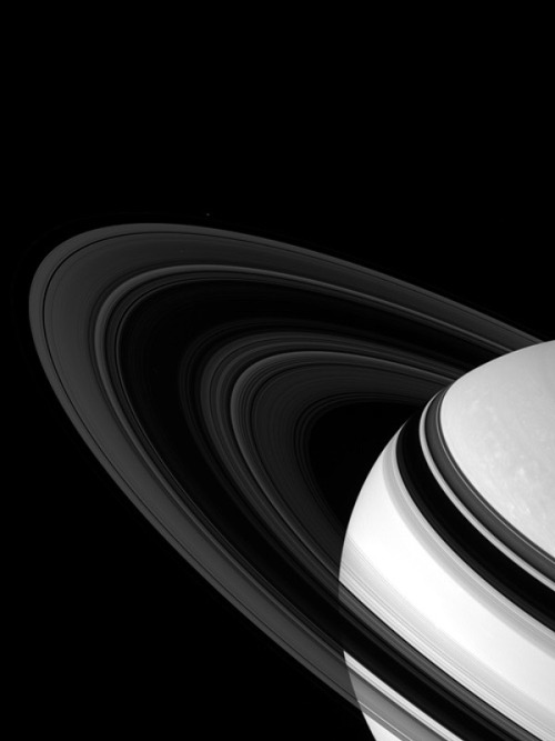 """Saturn at a tilt, April 13th, 2007"" by the Cassini orbiter via ck/ck"