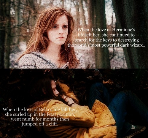 absolutelygeeky:  yes!!!!  Hell yeah! Hermione is so much better than Bella!