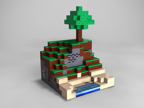 sogeekchic:  Lego Minecraft Vignette by Michael Thomas