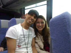 Shawna and Mike share a smile on the tour bus to some amazing gardens in Little Rock during the G2B11 event.