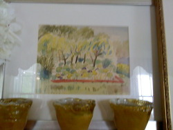 A painting by P.Allen Smith in the Home at the retreat.  His art teacher tells me that Allens best medium was watercolor.