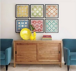 (via Palatial Living: Instant Art in Fabric Framing…)