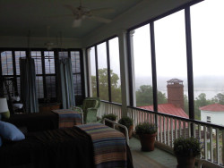 Upper floor of the back screened in porch at the Home of P.Allen Smiths Home & Garden Retreat.  One of the things I love most about the south is the longer 'outdoor' time during the year.