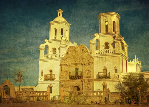 San Xavier Mission by Merilee Phillips