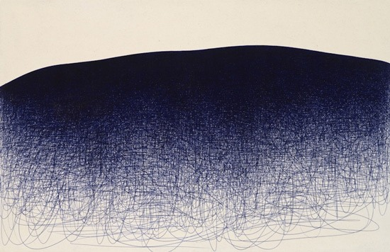 Il Lee, BL-105, 2008, ballpoint pen on canvas