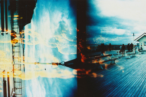 electrostasy:  Double exposure film exchange with Rebecka.