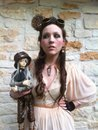 Me and one of my Super Dollfies. :]  Submitted by idontdosubtle Steampunk beauty of the day!