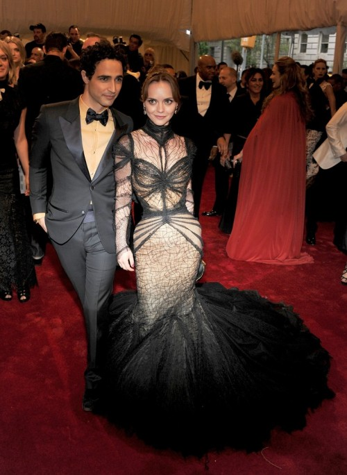 Christina Ricci and Zac Posen at the Met Costume Gala tonight (from suicideblonde,tumblr.com)