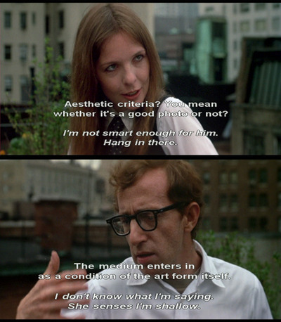 bemyvalentinoxo:  Annie Hall  i love woody allen i love this movie i love this scene