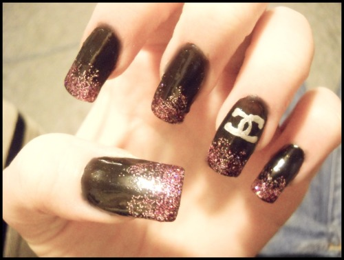 Chanel! Sinful Colors- I Miss You Sally Hansen- Midnight in NY Nubar Nail Art Pens- Silver Frost