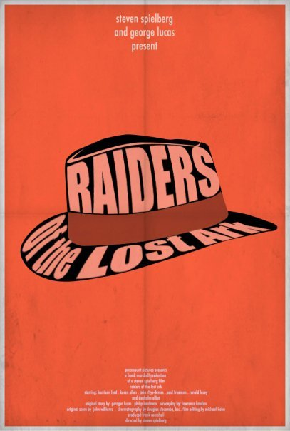 minimalmovieposters:  Raiders of the Lost Ark by Tom Bernard
