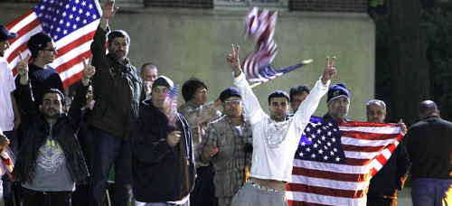 Early Monday, Arab-Americans in Dearborn, Mich.,  celebrated the news of the death of Mr. Bin Laden.