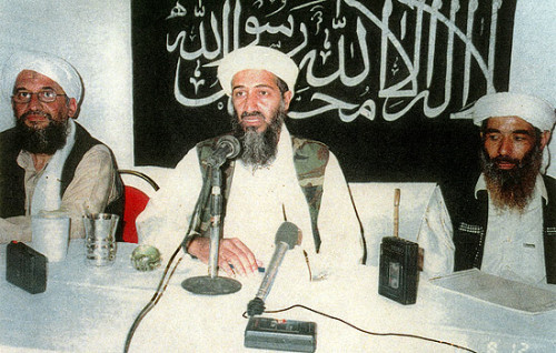 Photos: Osama bin Laden deadObituary: Osama bin Laden, born to privilege, dies a pariah Interactive Timeline: The life of Osama bin Laden  Osama bin Laden buried at sea, official says U.S. allies offer congratulations on death of Osama bin Laden Suspicions grow over whether Pakistan aided Osama bin Laden  Osama bin Laden's killing a huge boost for President ObamaPalin, Republican candidates react to death of Osama bin Laden LAX, other airports on heightened alert 'End of a dark era in U.S.-Muslim relations'LAPD increases patrols of 'high profile' terrorist targetsSheriff warns residents to be watchful for terrorist reprisals Photo: This undated photo shows Osama bin Laden, center, Ayman Al-Zawahiri, left, a physician and the founder of the Egyptian Islamic Jihad, and Muhammad Atef, right, who has been indicted in the U.S. for his alleged involvement in the 1998 bombings of U.S. embassies in Tanzania and Kenya. Credit: AFP/Getty Images